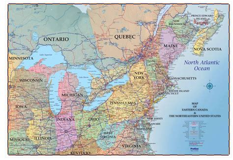 usa map with canada map of eastern us and canada cdoovision