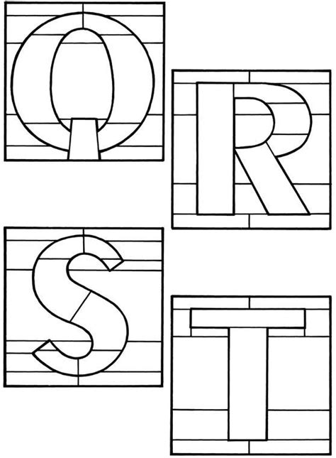 decorative alphabets decorative alphabets stained glass pattern book