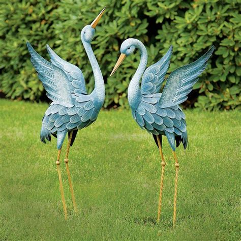metal garden birds welded metal garden sculptures add personality to your