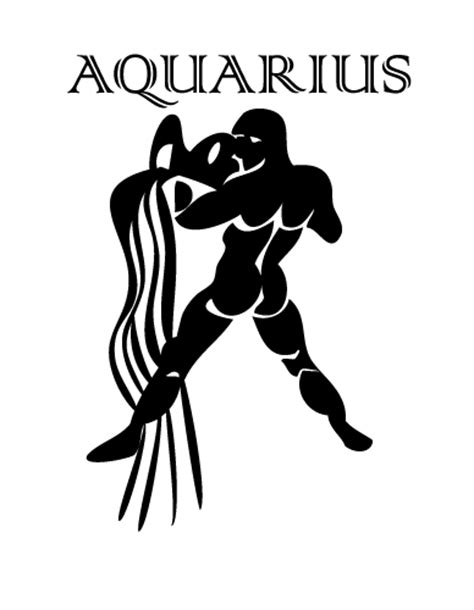 printable zodiac stencils aquarius star sign revealed