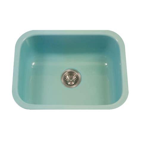enamel kitchen sinks houzer porcela series undermount porcelain enamel steel 23