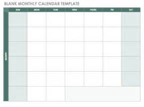 Blank Calendar Templates Free Free Blank Calendar Templates Smartsheet