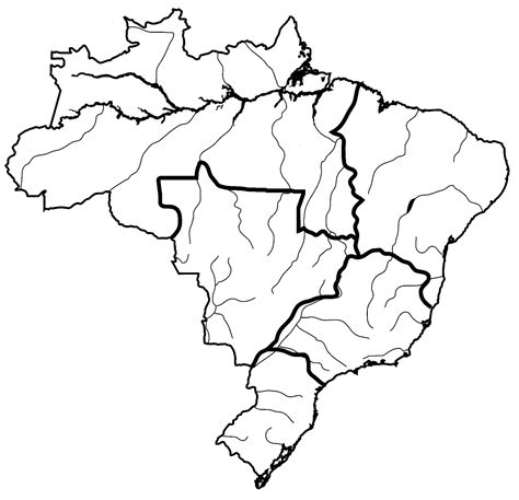 coloring page map of brazil disparities in wealth and development ib geography