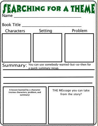 literature themes list elementary theme organizer i like this theme is difficult to teach