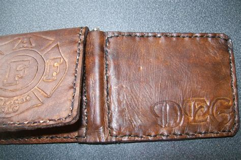 Handmade Leather Money Clip Wallet - buy a crafted custom leather money clip wallet with