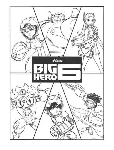 Big Hero Desenhos Para Imprimir Colorir E Pintar Big 6 Coloring Pages