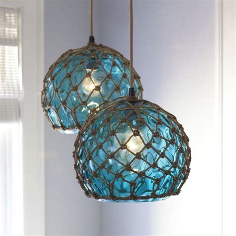 Beachy Pendant Lights Glass Japanese Buoy Pendant Light Glass The Glasses And Pendant Lights