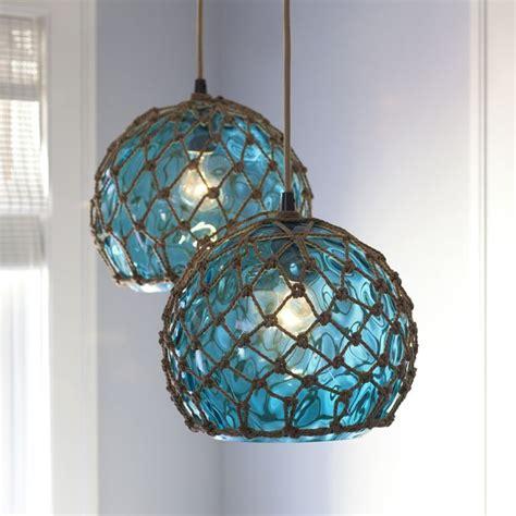 Glass (Japanese) buoy pendant light.   Light it