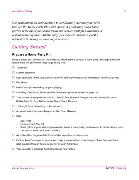 home party plan avon home party plan february 2015