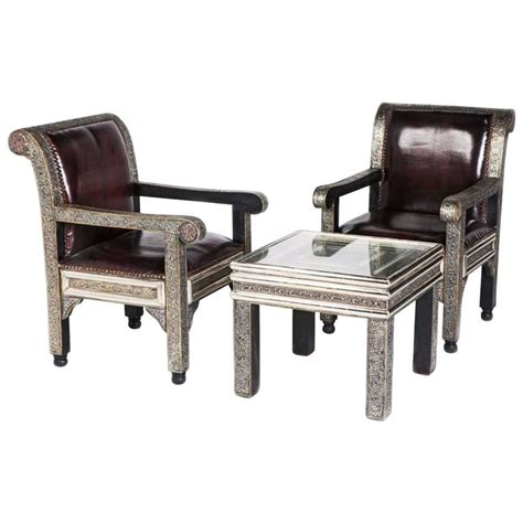 Pair Of Chairs For Living Room Idrisid Pair Of Chairs And Coffee Or Centre Table Living Room For Sale At 1stdibs