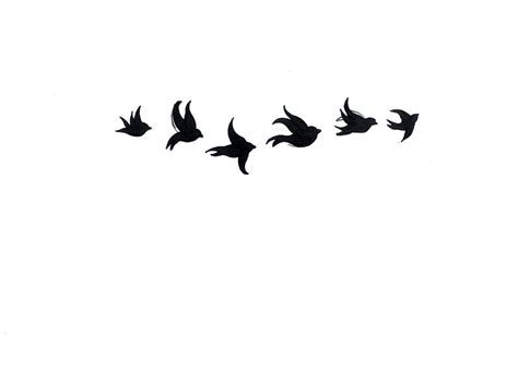 amazing black six flying birds tattoo stencil tattoos