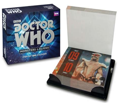 Doctor Who Desk Calendar by Doctor Who 2015 Deskblock Calendar A Closer Look
