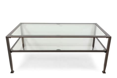 Contemporary Storage Coffee Table Contemporary Storage Cocktail Table In Iron Mathis Brothers Furniture