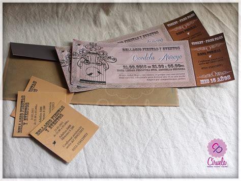 invitaciones de boda y 15 a 241 os finas 2 19 90 en mercado libre vintage invitaciones de quinceanera invitaciones 15 anos ticket vintage para imprimir 881501