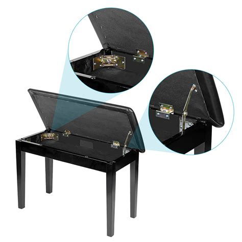 padded bench cushion neewer black wooden piano bench with padded leather