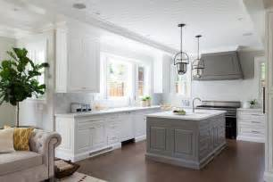 Granite Topped Kitchen Island by Gray Kitchen Hood With Gray Kitchen Island Transitional
