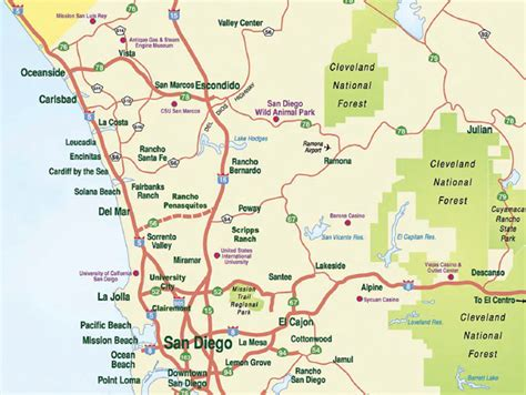 san diego county map san diego county map commute times san diego home info