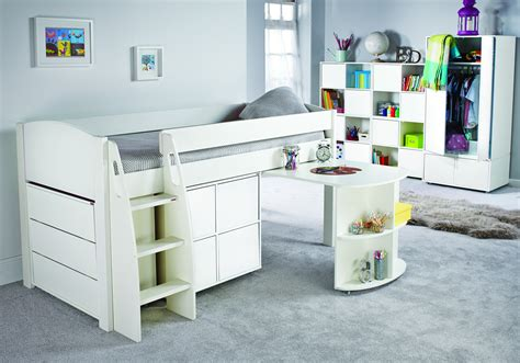 Midi Sleeper by Stompa Uno S Midsleeper Cube Unit And Chest