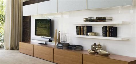 living room storage living space design with simple design with wooden tv stand and storage sleek wall paint big