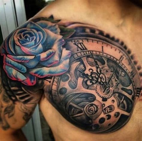 half open rose tattoo half sleeve chest sleeve tattoos