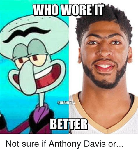 Who Wore It Better Meme - funny anthony davis memes of 2016 on sizzle memes