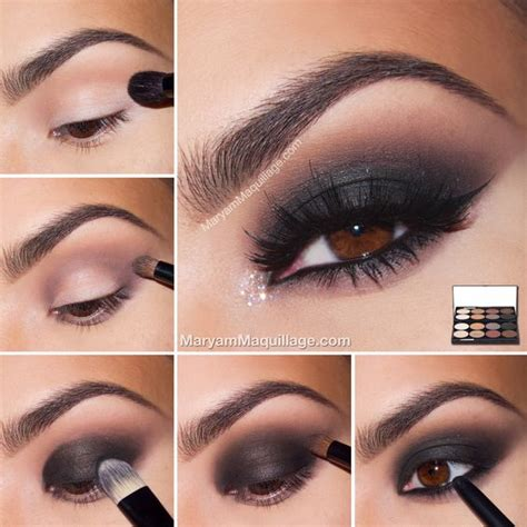 Tutorial Eyeshadow Wardah Seri E smokey eye tutorial from maryam maquillage hurr makeup smokey