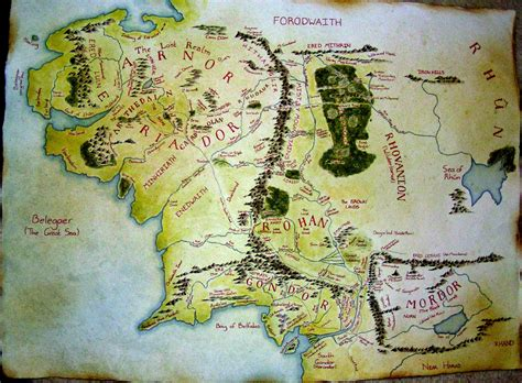 large map of middle earth map of middle earth by phoenixtelstar on deviantart