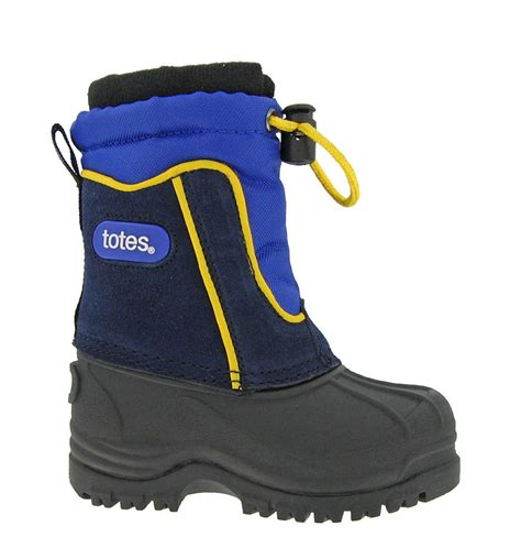 winter boots for boys totes boys greg waterproof winter snow boots