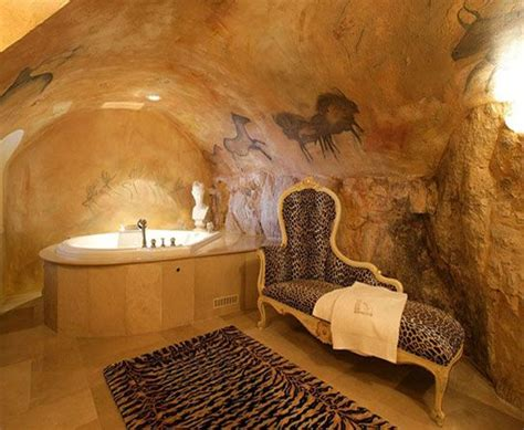 man cave bathroom stone cave like bathroom awesome room but ugly