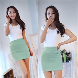 Sale Rok Mini Fitted Skirt Mini Skirt Slim Seamless Stretch Tight