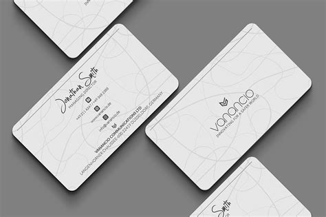 and white card template white business card template inspiration cardfaves