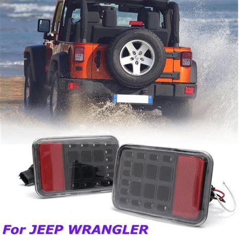 jeep back lights pair clear lens led reverse backup l rear bumper tail