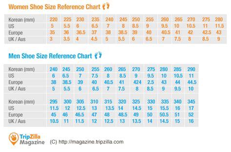 infochart korean clothing sizes before you shop