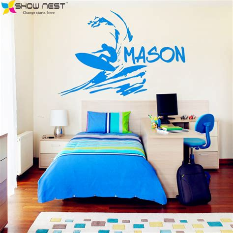 surf wall stickers compare prices on boys vinyl shopping buy low price boys vinyl at factory