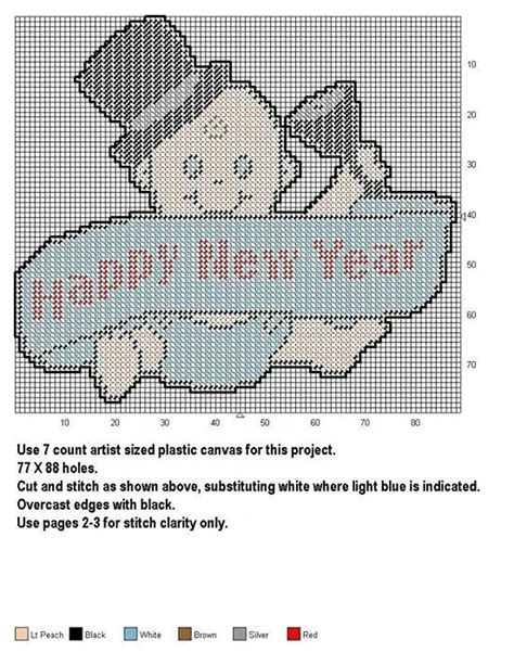 new plastic canvas free patterns 29 best images about new years on pinterest merry