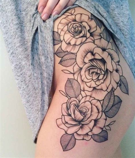 simple rose tattoos on thigh unique tattoos designs ideas for and