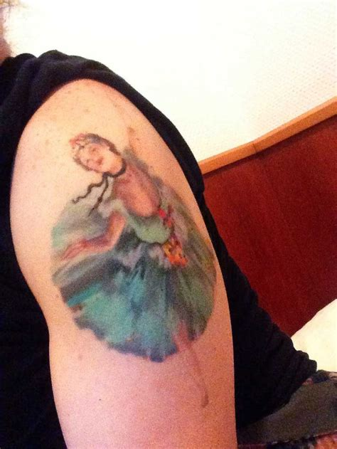 the best art tattoos of all time degas ballet