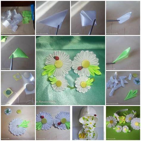 paper kanzashi flower tutorial diy satin ribbon kanzashi daisy
