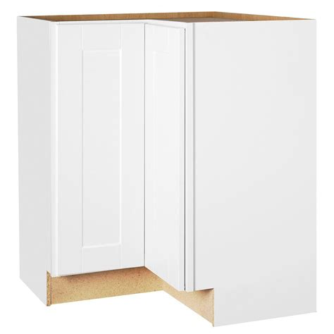 white corner cabinet for kitchen hton bay shaker assembled 28 5x34 5x16 5 in lazy susan