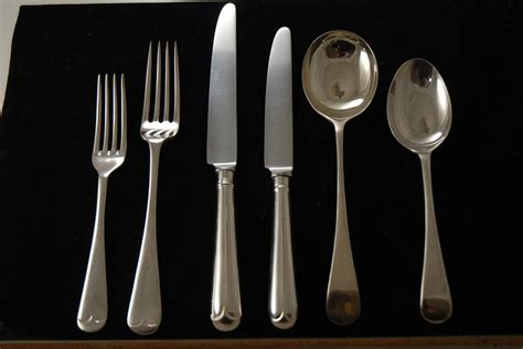 old english pattern cutlery a silver plated flatware set in the old english pattern