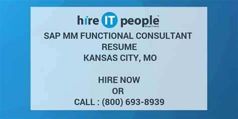 sap mm functional consultant resume kansas city mo hire it we get it done