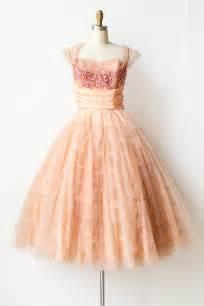 Vintage 1950s peach tulle sequin prom dress pursuit of bliss dress