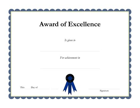 free printable certificate of excellence template looking academic certificate of excellence template