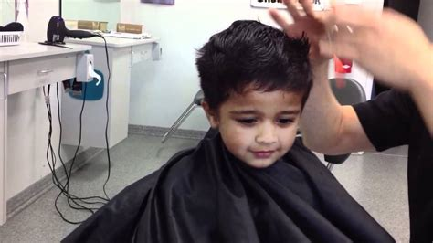 2 year hair cut shreyas 2 year old hair cut youtube