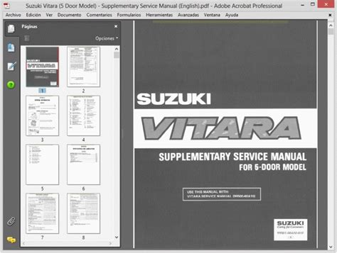 Suzuki Vitara Workshop Manual Free Suzuki Vitara Sidekick All Models 1988 1998 Service