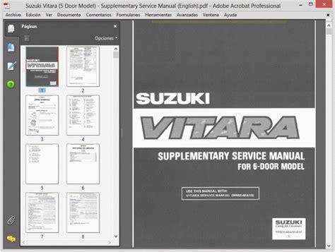 suzuki vitara wiring diagram pdf wiring diagram