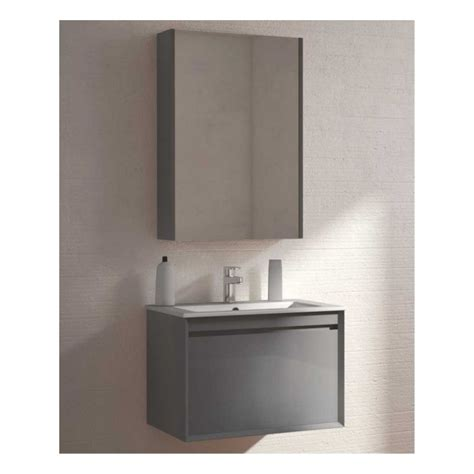 Reflex Anthracite 55cm Vanity Unit Wall Hung Clearance Bathroom Furniture