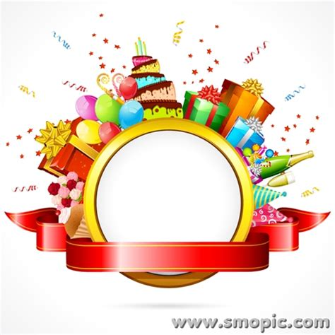 birthday card template design vector free download smopic com free vector birthday photo frame wreath