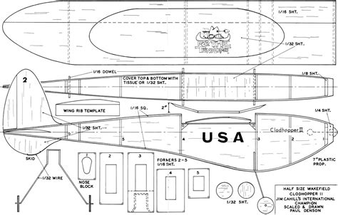 cardboard glider template for the tenderfoot clodhopper article plans feb 1973