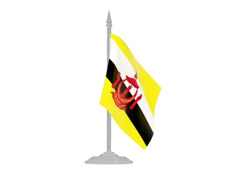 icon design brunei flag with flagpole illustration of flag of brunei